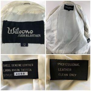 Wilsons Leather Jackets & Coats - Wilsons Vintage Leather Motor Biker Ivory Jacket